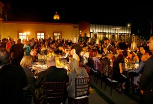 he post-concert dinner on the terrace at the Wallis Annenberg Center for the Performing Arts