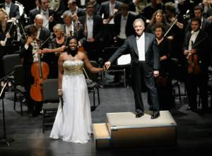 Conductor Zubin Mehta onstage with the Israel Philharmonic Orchestra